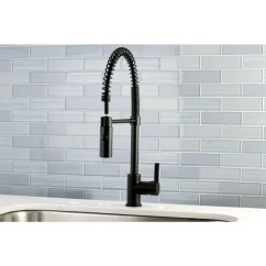 Kitchen Pull Down Faucet Free Standing Island Shop Black Modern Spiral Pulldown Shipping