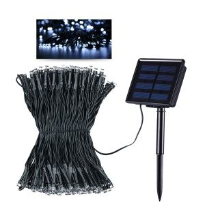 Litom Solar Outdoor String Lights 300LED 105 ft Solar Powered Waterproof Decorative Light with 8 Working Modes