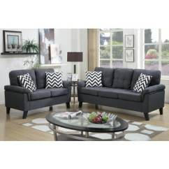 Living Room Furniture For Less Cherry Side Tables Urban Sets Overstock Bobkona Tyler Linen Like 2 Piece Sofa And Loveseat Set