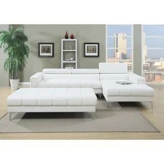 bobkona hayden bonded leather sofa loveseat with adjustable back