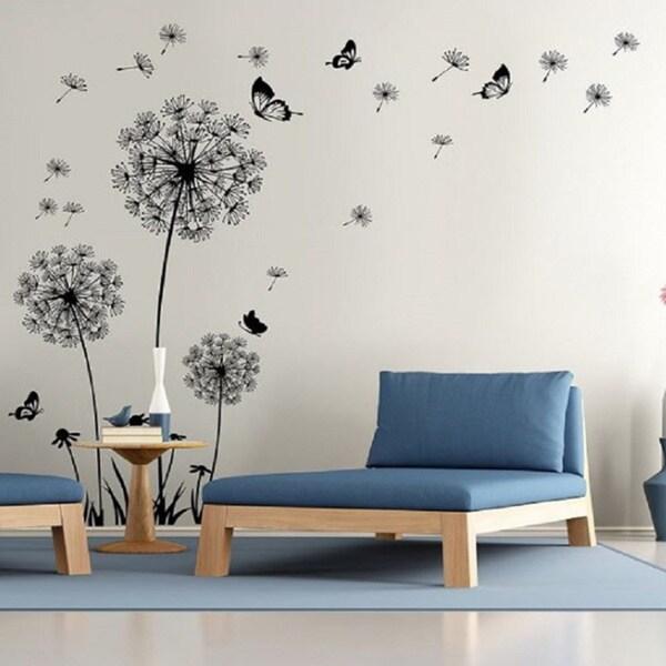 shop dandelion wall decal wall stickers dandelion art decor vinyl