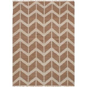 eCarpetGallery Hand-woven Izmir Kilim Brown/ Yellow Wool Flatweave Area Rug (5'2 x 7'3)