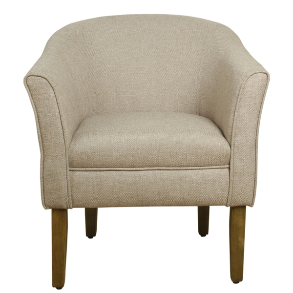 cheap accent chairs for sale graco blue owl high chair shop homepop modern barrel flax brown on