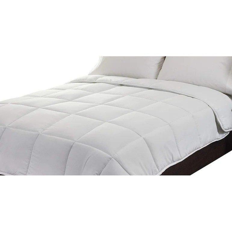 super soft white comforter with piping