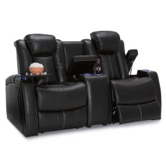 Theater Chairs With Cup Holders Office Walmart Shop Seatcraft Omega Leather Gel Home Seating Power Recline Loveseat Center Storage Console And