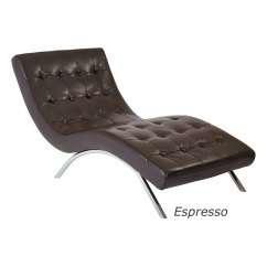 Tufted Chaise Lounge Chair Restaurant Chairs Chicago Ave Six Blake In Faux Leather