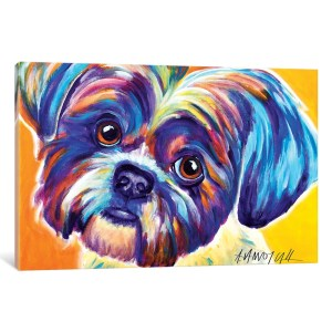 iCanvas 'Lacey The Shih Tzu' by DawgArt Canvas Print