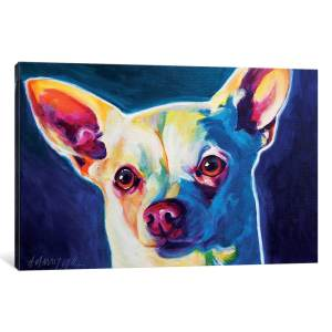 iCanvas 'Coco The Chihuahua' by DawgArt Canvas Print
