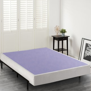 Priage 8 Inch Wood And Steel Box Spring Mattress Foundation Option Twin