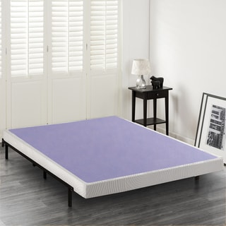 Priage 4 Inch Wood Box Spring Mattress Foundation