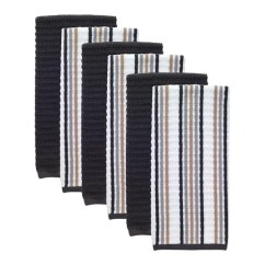 Kitchen Dish Towels Counter Organization Ideas Shop T Fal Textiles 6 Pack Solid Stripe Waffle Terry Amp Towel Set