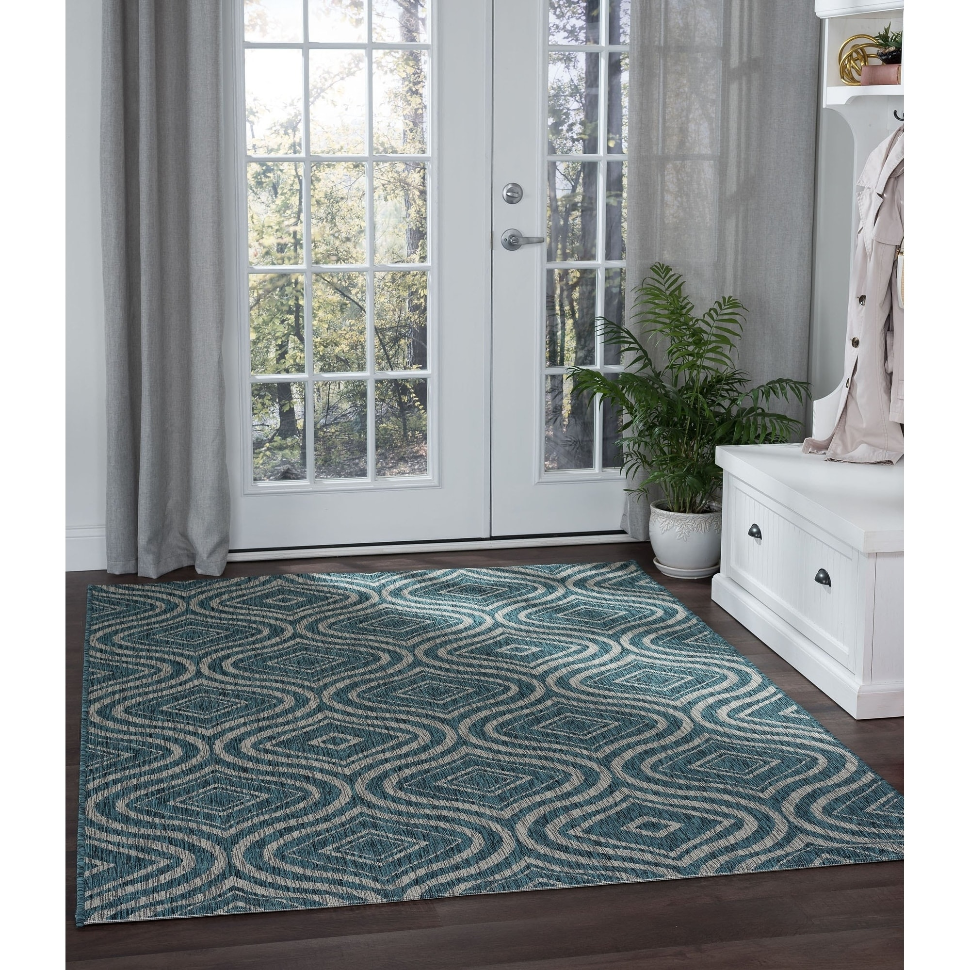 teal kitchen rugs organize my find great home decor deals shopping at alise colonnade contemporary geometric area rug 7 10 x