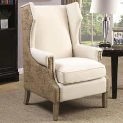 Accent Wingback Chairs Gold Banquet Chair Covers Shop Vintage Map Print Design Wing Back With Nailhead Trim