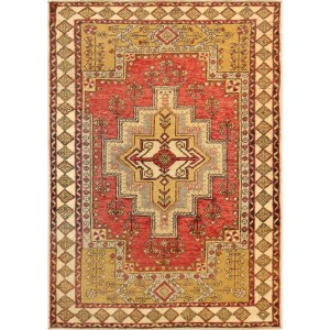 Pasargad Vintage Turkish Oushak Collection Wool Hand-knotted Area Rug (4' x 6')