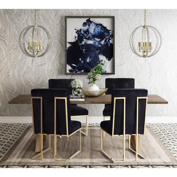 black velvet chair red metal chairs shop akiko set of 2 free shipping today