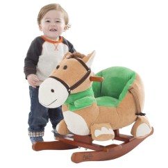 Plush Animal Rocking Chairs Jessica Charles Swivel Chair Shop Happy Trails Brown Horse On Wooden Rockers