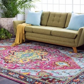 Shop NuLOOM Vintage Floral Mandala Turquoise Rug 5 X 75 On Sale Free Shipping Today