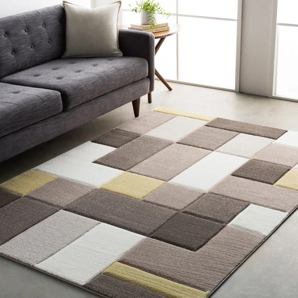 yellow area rug living room modern wooden chairs shop geometric carved grey and 5 3 x 7 6