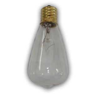 Edison Vintage Antique Clear bulbs - 12 pack - intermed size bulb.  5-7 Wattage