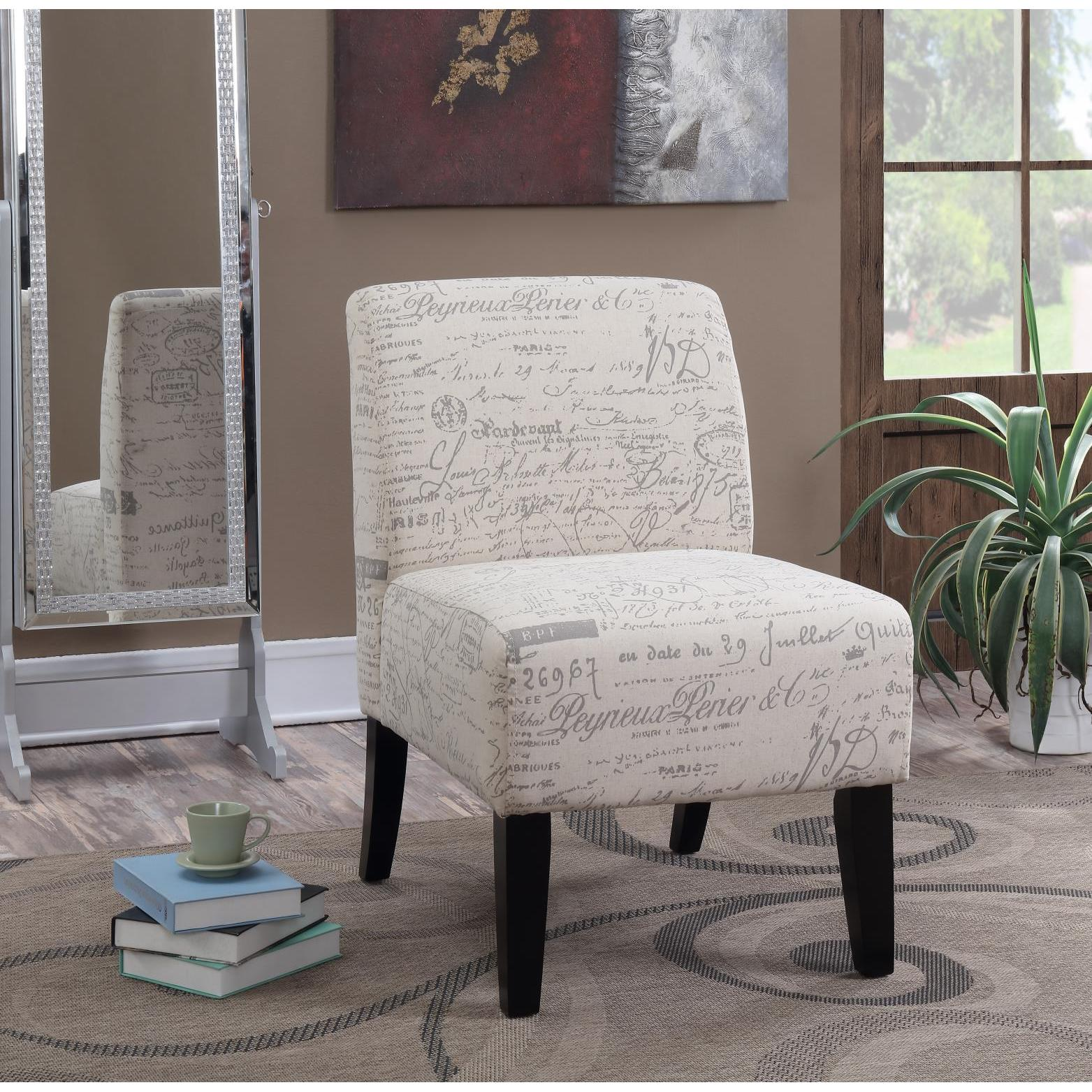 Script Chair Details About Lyke Home Panama Beige Script Padded Armless Accent Chair