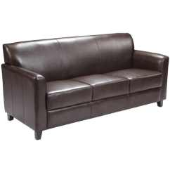 Modern Brown Leather Sofa Patio Sectional Shop Benville On Sale Ships To Canada