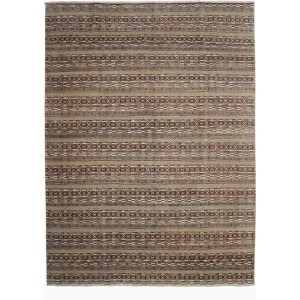Avasi Grey Wool Hand-knotted Area Rug (9' x 12')