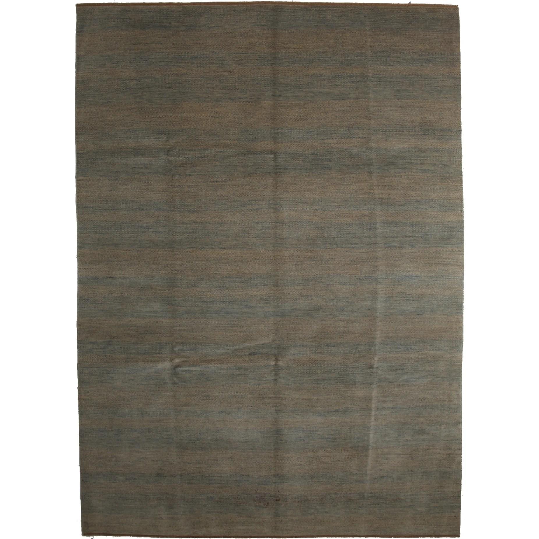Hamirdah Beige Wool Han-knotted Area Rug (8'9 x 12'1)
