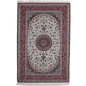 Latiahall Ivory Wool Hand-knotted Area Rug (5'4 x 8')
