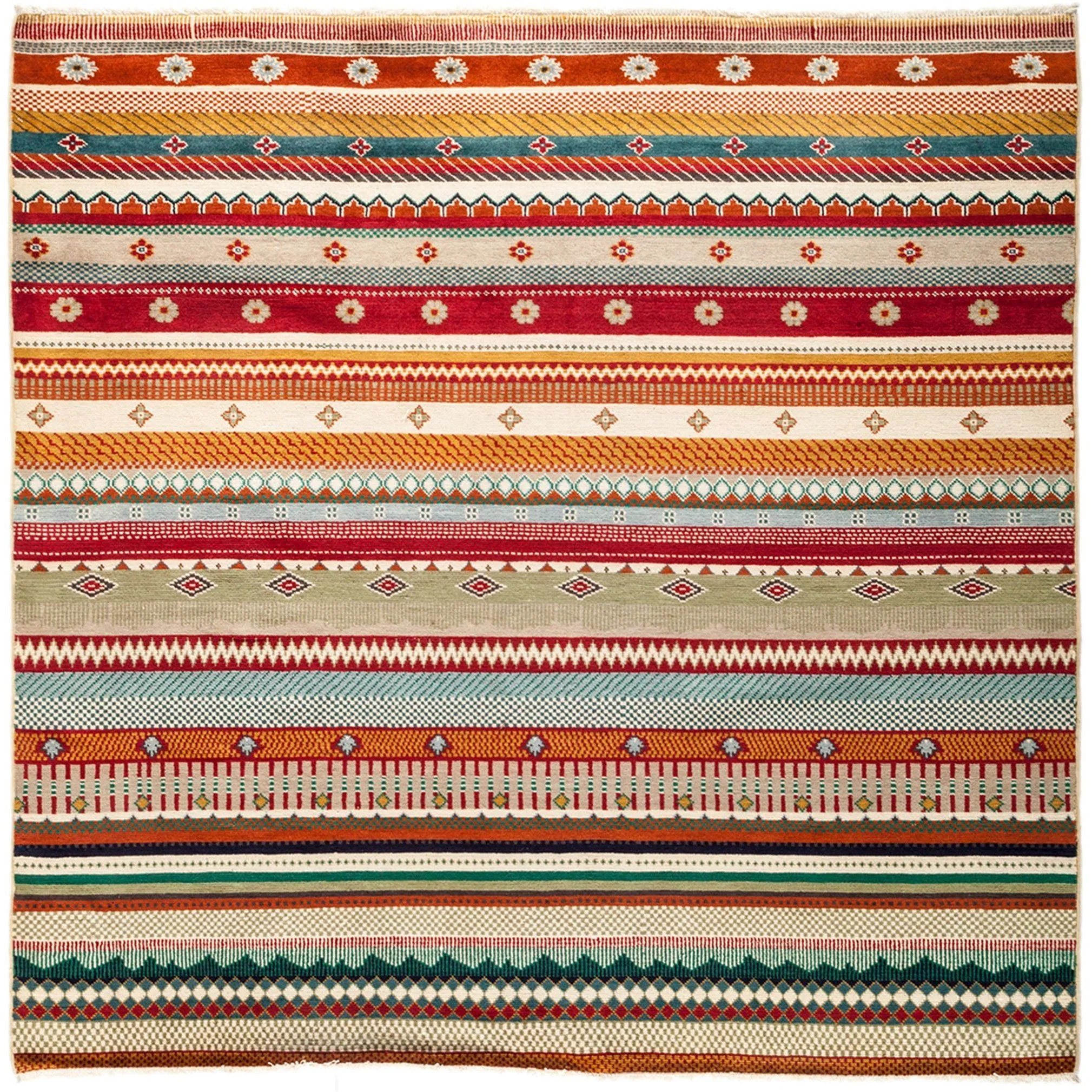 Kamyabeh Hand Knotted Area Rug - Multi