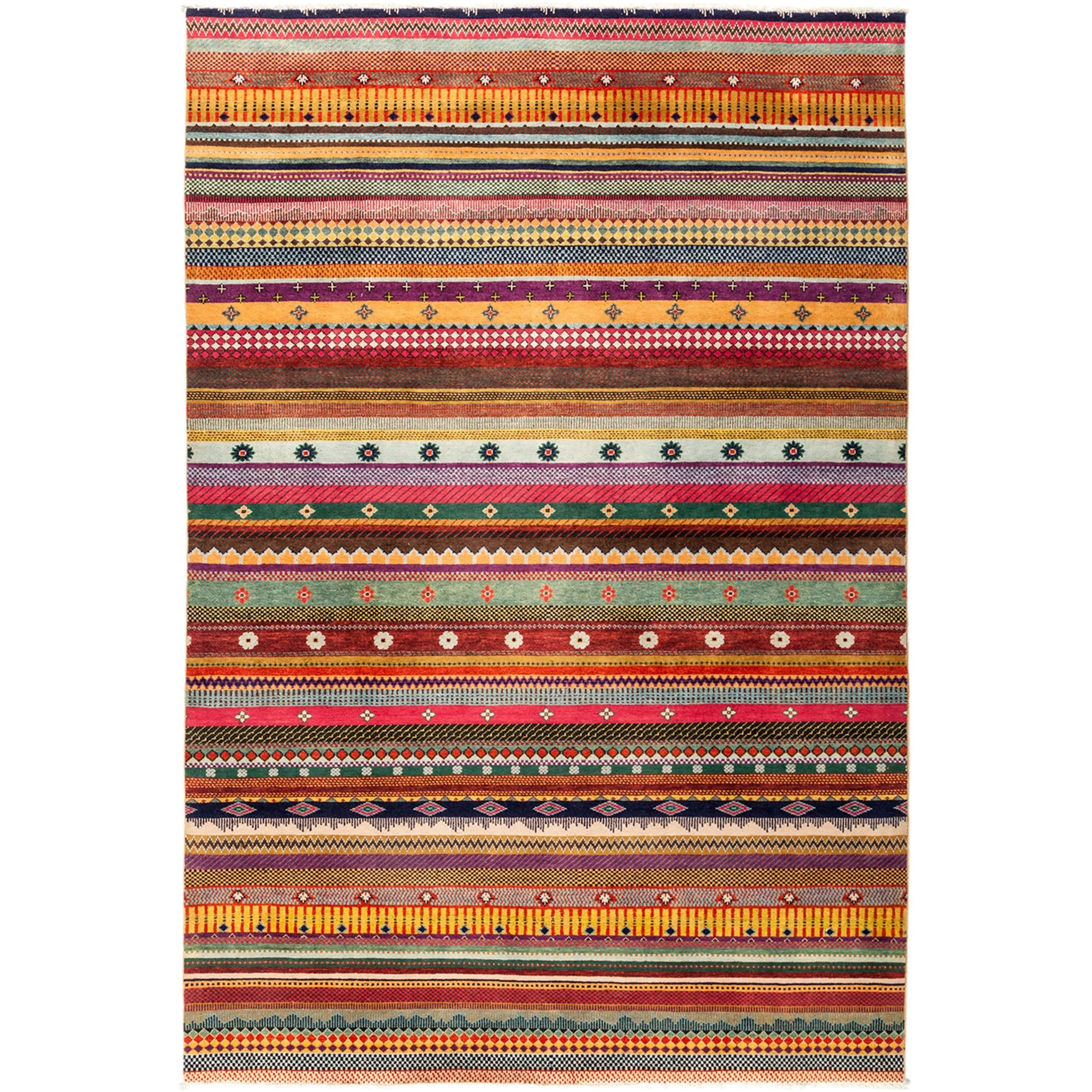 Wazirut Hand Knotted Area Rug - Multi