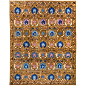 Siwarga Hand-knotted Multicolor Wool Area Rug (9'3 x 11'7) - Multi