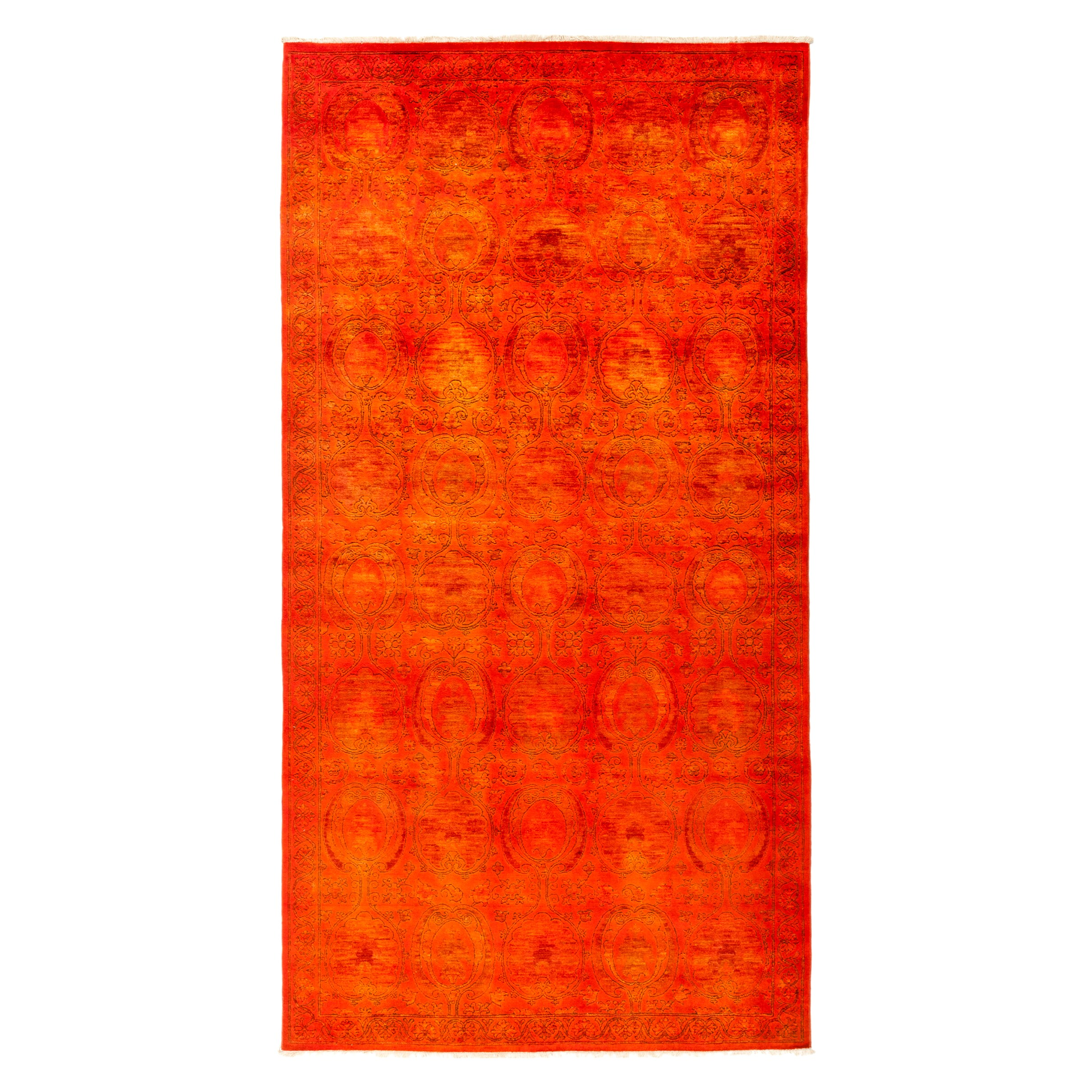 Ismaidari Red Wool Overdyed Hand-knotted Area Rug (6'2 x 11'8)