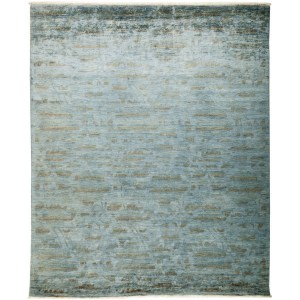 Overdyed Shiwdar Blue Wool Hand-knotted Area Rug (8'1 x 9'8)