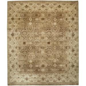 Mahmuslu Hand-knotted Beige Wool Area Rug (8'2 x 10'2)