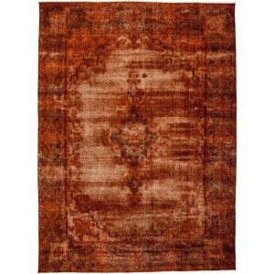 "Distressed Sibbaqah Hand Knotted Area Rug - 9'6"" X 13'6"""
