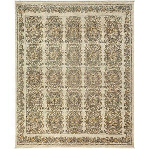 Jaqbanah Ivory-colored Wool Hand-knotted Turkish Area Rug (8'3 x 10'1)