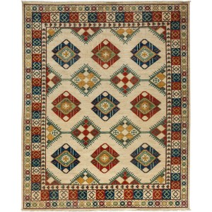 Qatoorah Ivory Wool Hand-knotted Area Rug (8'4 x 10'4)