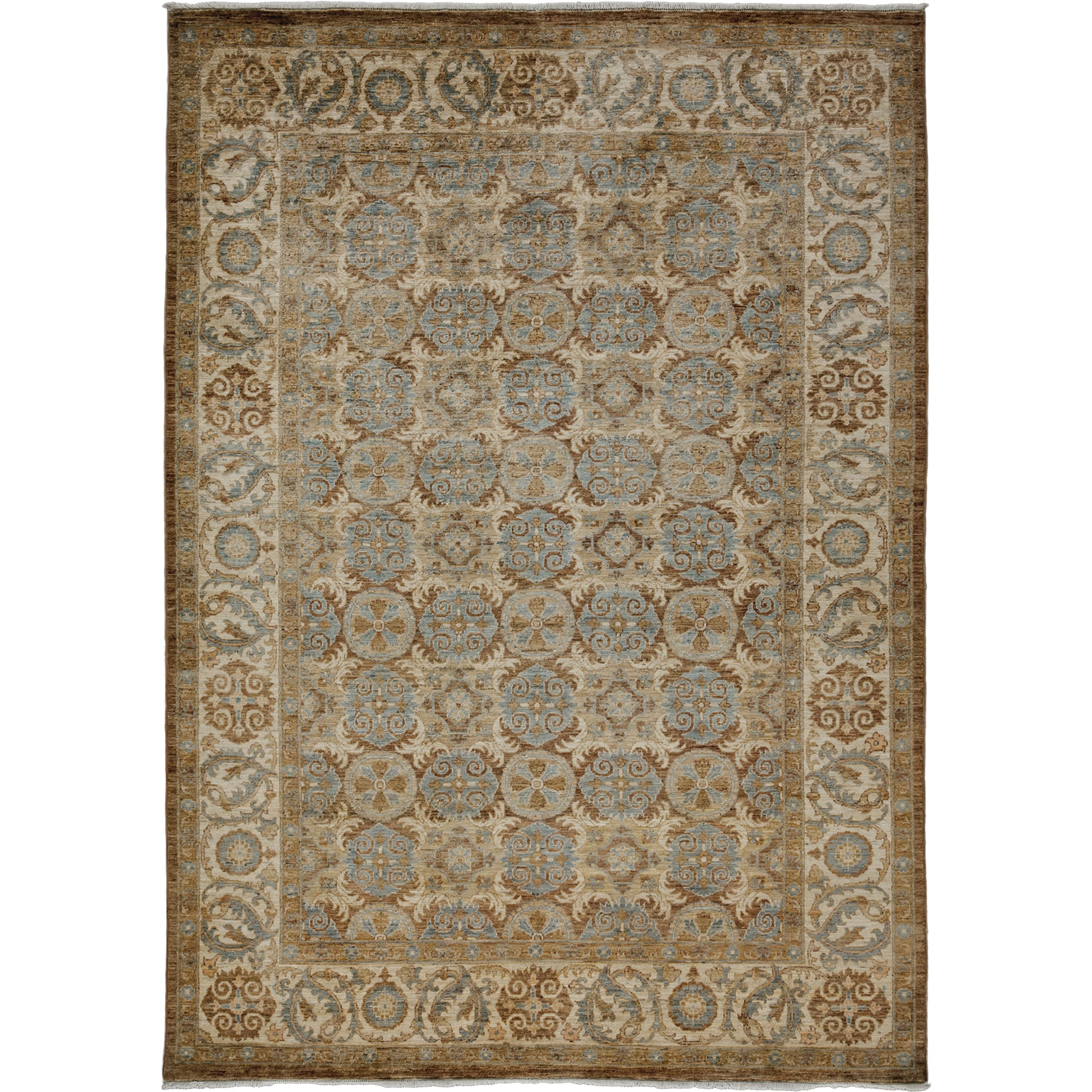 Harebet Yellow Wool Hand-knotted Oriental Area Rug (6'2 x 8'7)