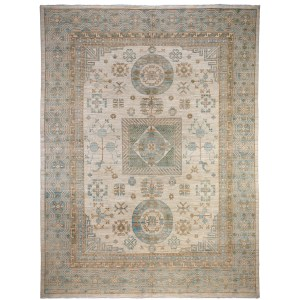 Sharra Ivory Wool Hand-knotted Area Rug - 9'2 x 12'4