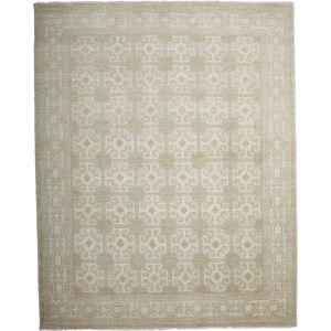 Dedekoyun Ivory Wool Hand-knotted Area Rug (8'2x10'3)