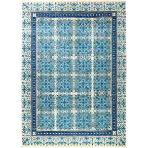 Faqidiyya Blue Wool Hand-knotted Area Rug (9'2 x 12'10)