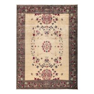 Diwadiyah Beige Wool Hand-knotted Oriental Area Rug (9'3 x 11'10)