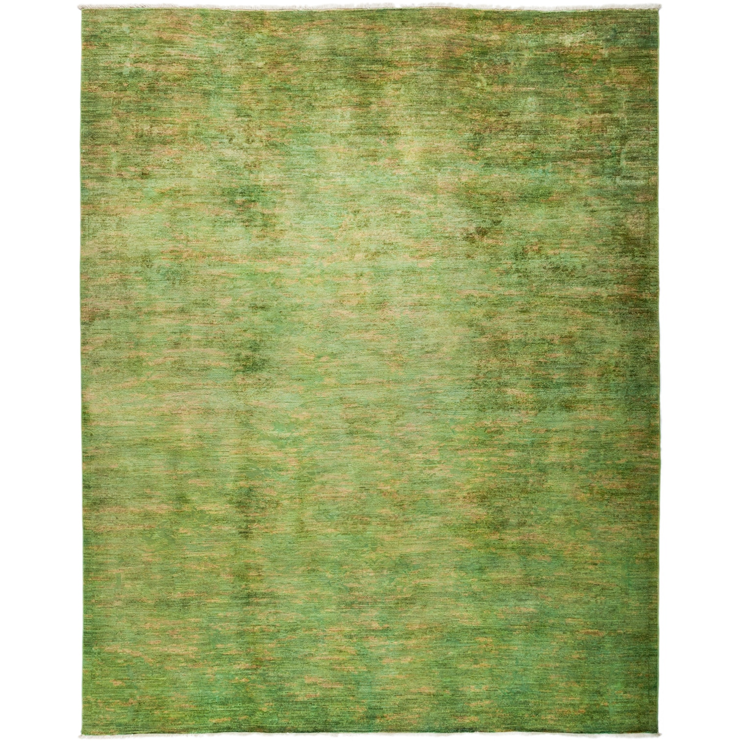 Qamsarveh Overdyed Green Wool Hand-knotted Oriental Area Rug (8'2 x 10'1)
