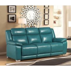 Recliner Sofa Set 3 2 1 Cheap For Sale Abbyson Leyla Turquoise Top Grain Leather Reclining ...