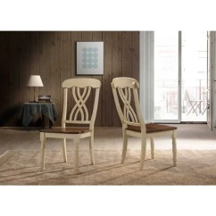 Oak And White Dining Chairs Outdoor Shop Traditional Country Style Off Set Of 2