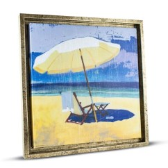 Canvas Beach Chair Metal Chaise Lounge Chairs With Wheels Shop American Art Decor Framed Painting Print