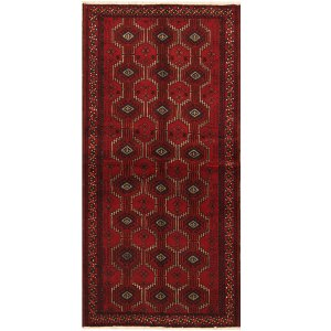 Handmade Herat Oriental Persian Tribal Balouchi Wool Runner (Iran) - 3'3 x 6'9
