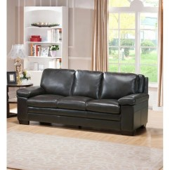 Miramar Leather Sofa Cottage Lane Table Shop Free Shipping Today Overstock Com