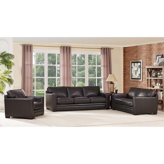 set of leather sofas sofa store charleston sc shop florence grey loveseat and chair on sale