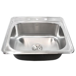 square kitchen sink island with folding leaf buy sinks online at overstock com our best deals 25 inch stainless steel top mount drop in single bowl bar